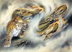 tiger vs dragon by ozuma kaname tribal dragons