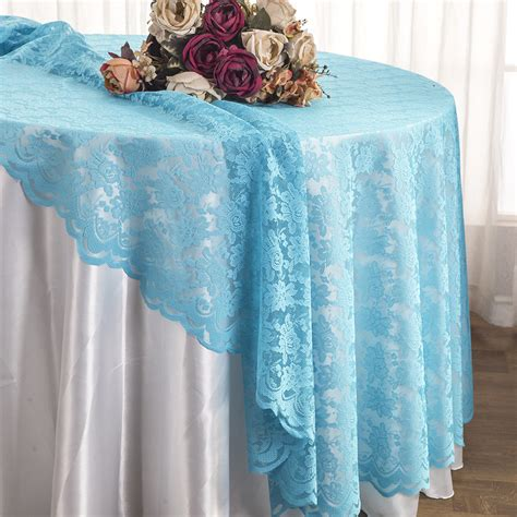 turquoise round lace table overlays lace tablecloths