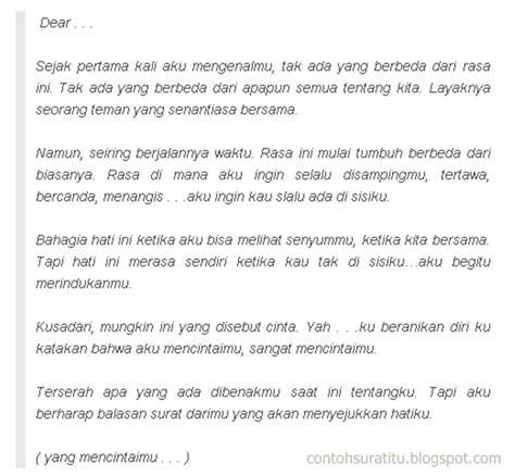 contoh surat cinta romantis tapi nakal