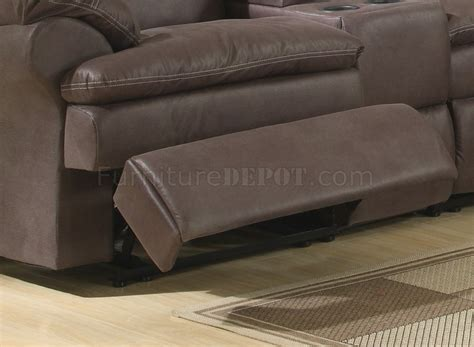 fabric reclining sectional brown upgraded fabric modern reclining sectional sofa