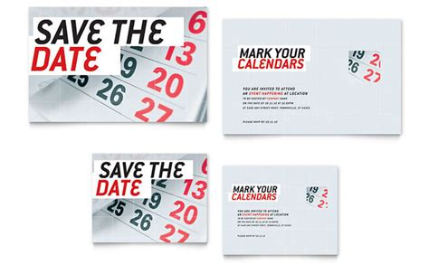 date card templates free save the date note card template design