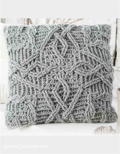 Sarung Bantal Cushion Cover Pattern 021 cable crochet pillow pattern
