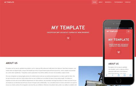 my template a general purpose bootstrap responsive web
