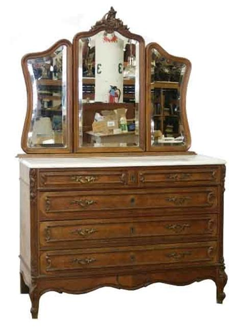 Antique Dressers With Mirrors by Beautiful Antique Walnut Dresser With 3 Part Mirror