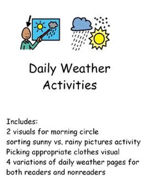 daily weather activities for students with special needs