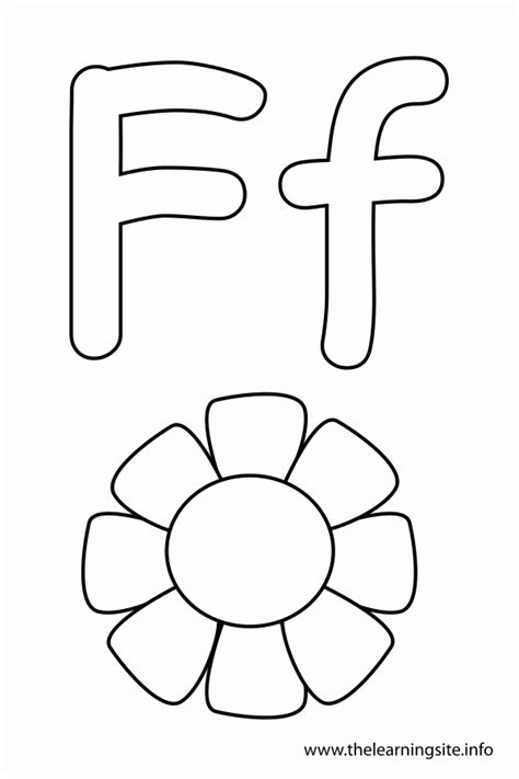 coloring pages with letter f coloring pages for the letter f coloring home