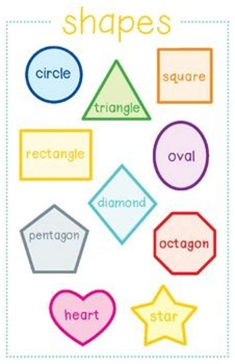 printable individual shapes 261 best learning charts posters images on pinterest