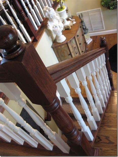 Restaining Banister Rail by Staining An Oak Banister Stains And Need To