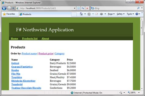 creating asp net website in c asp net and f i creating mvc web applications in f