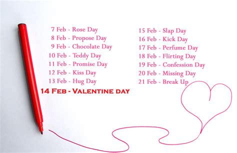 list of days before day collection of seven days of valentines week 2017