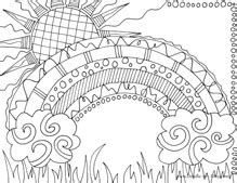 rainbow coloring pages for adults rainbow coloring pages nature coloring pages zentangle