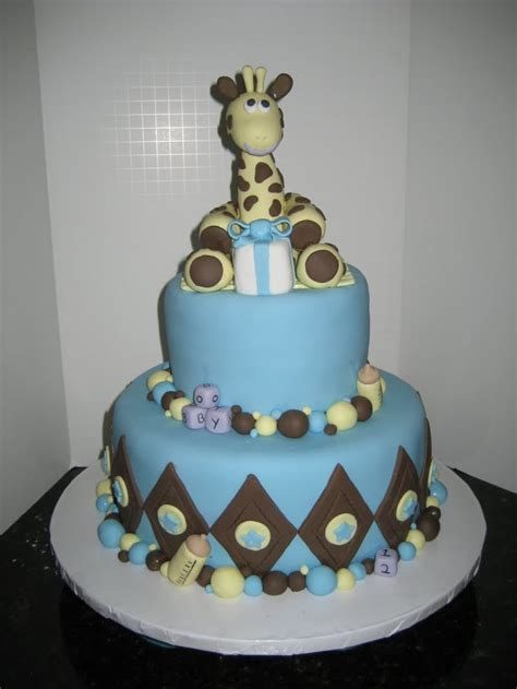 Baby Shower Cakes For Boys tickled pink cakes bouncing baby boy shower cake