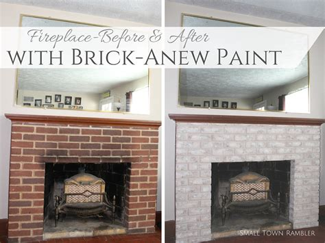 paint brick fireplace before after fireplace makeover with brick anew paint