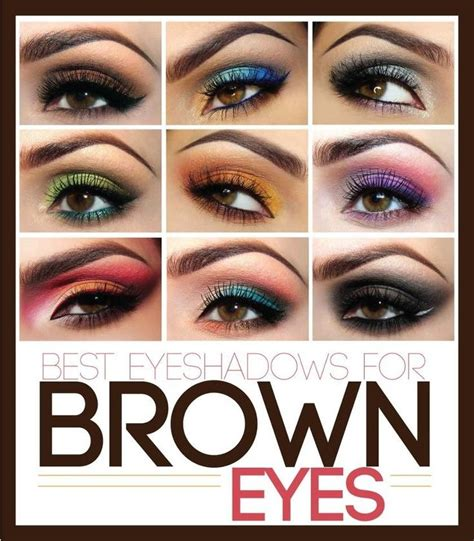 the best eyeshadow colors for brown black shadow
