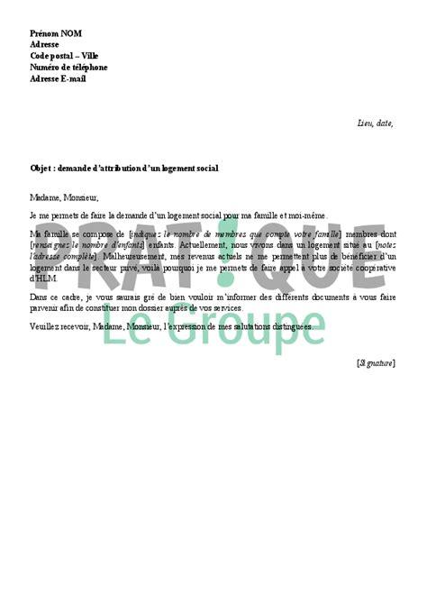 Lettre Demande De Logement Social Urgent lettre de demande de logement social 224 une soci 233 t 233
