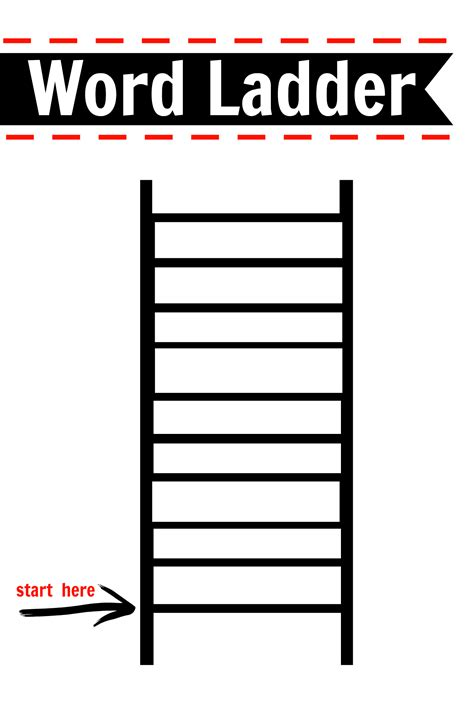 Printable Word Ladder Games | after school activity word ladders printable free