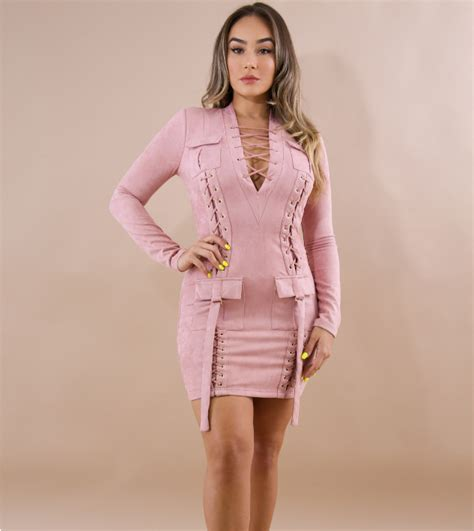 Dear Fashion Ask Fashion 7 by Wholesale Pink Sleeves Hollow Out Mini Dress Cy 1393