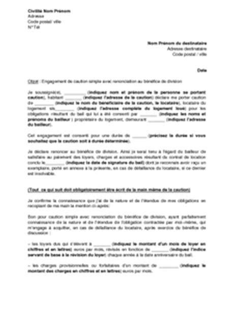Lettre Engagement De Retour Visa modele lettre engagement document