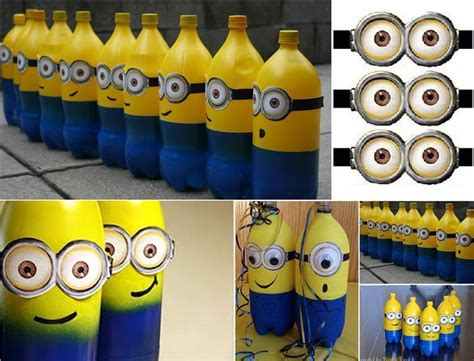 diy centro de mesa de minions con botellas pet file 3gp flv mp4 161 estos minions elaborados con botellas de pl 225 stico dar 225 n