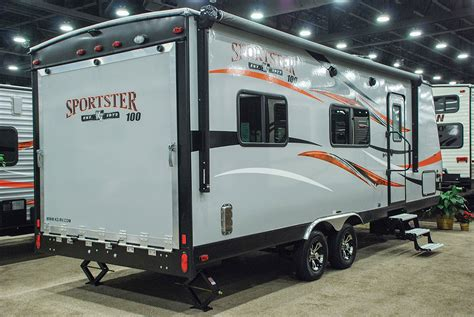 kz rv travel trailers fifth wheels toy haulers sportster 100 210th lightweight travel trailer toy hauler