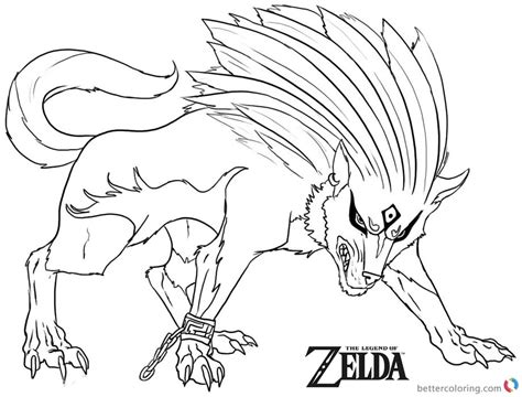 printable for kids com legend of zelda coloring page twilight wolf free