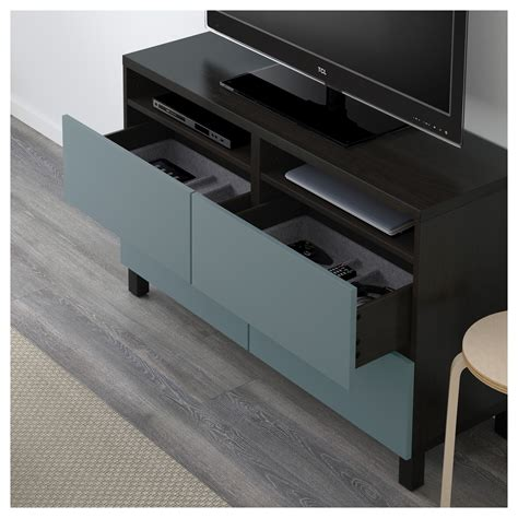 tv bench with drawers best 197 tv bench with drawers black brown valviken grey