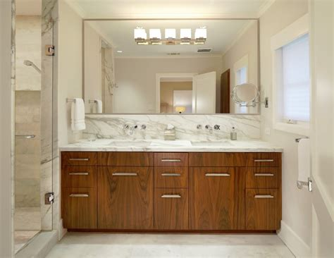 Bathroom Large Mirror Bahtroom Large Bathroom Mirror Frames Above Wooden Vanity Plus Wash Bashins Near Slide