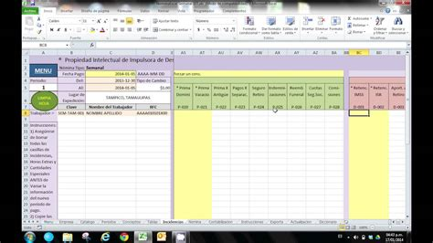 tutorial excel nomina 2012 youtube manual de operaci 243 n plantilla excel n 243 mina youtube