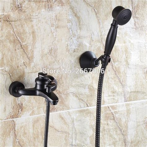 handheld shower head for bathtub faucet free shipping single handle bath faucet black bathtub