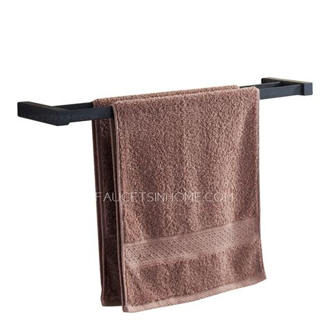 black bathroom towel bar simple style black painting double towel bars bathroom
