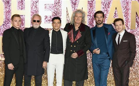 brian may cameo bohemian rhapsody rami malek and ben hardy join queen s