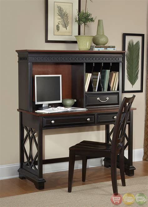 st ives transitional chocolate cherry home office writing desk