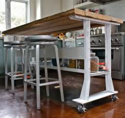 kitchen island pinterest long narrow islands and gallery pics for table wheels