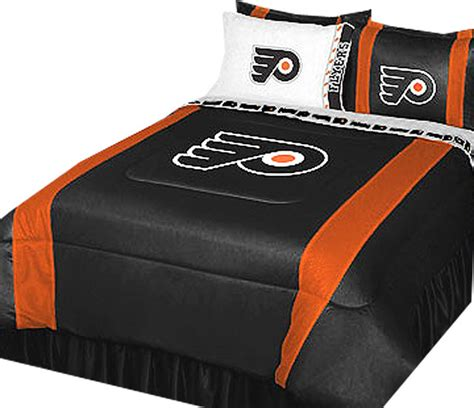 nhl philadelphia flyers bed set hockey logo bedding