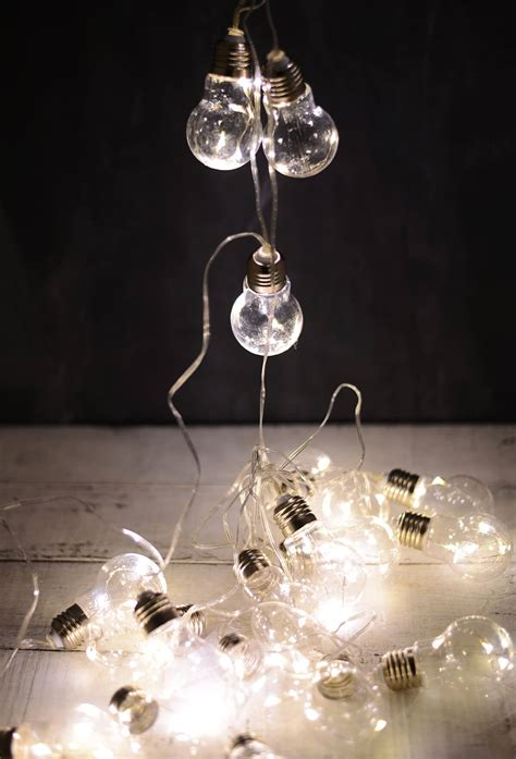 20 bulb string lights edison bulb led string lights 20ct 9ft clear cord