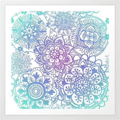 pattern art prints pastel mandala pattern art print by julie erin designs