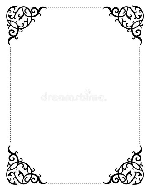 Wedding Border Frame Design by Invitation Border Frame Stock Vector Illustration Of