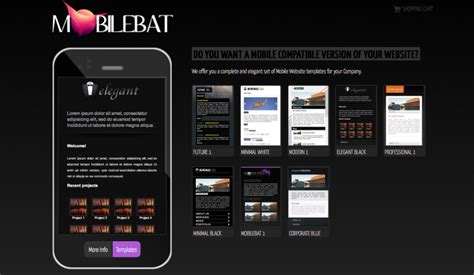 Mobile Site Template Free mobilebat mobile website templates luca martincigh