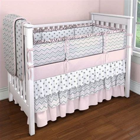 Gray And Pink Chevron Crib Bedding Pink And Gray Chevron Crib Bedding Set