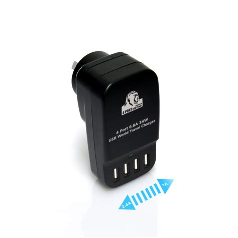 Usb Travel Charger gorilla power 4 port usb world travel charger 6 8a 34w mbeat