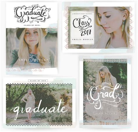 whcc boutique card templates 24 best senior announcements images on senior