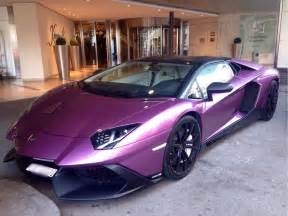 Lamborghini Purple Unique Purple Lamborghini Aventador 50th Anniversario In