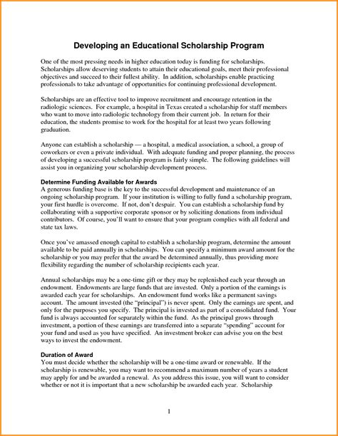 Scholarship Essay Exles Career Goals Sle Scholarship Essay Career Goals