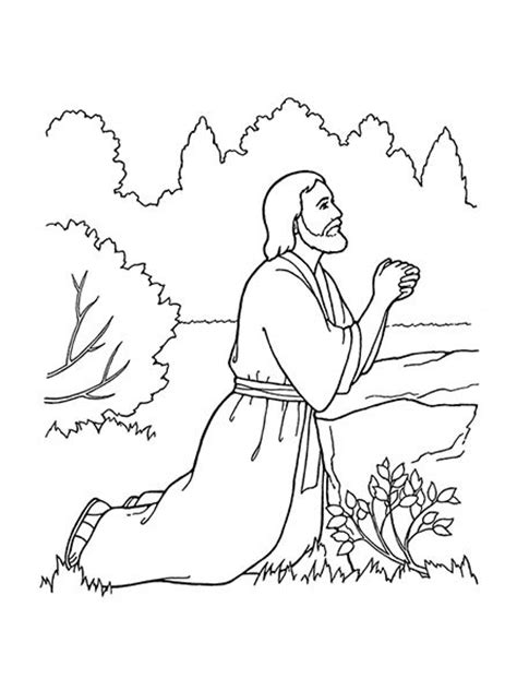 coloring pictures of jesus praying atonement clipart clipground