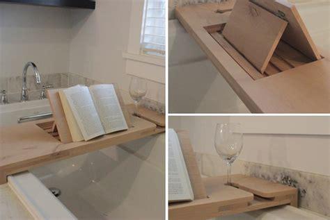 diy bathtub reading tray with diy spa tub caddies decorating your small space