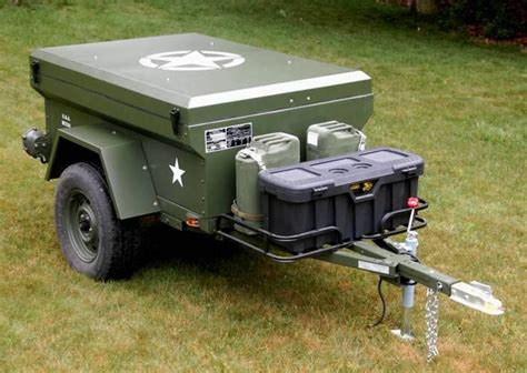 military jeep trailer man builds military style trailer google search suzuki