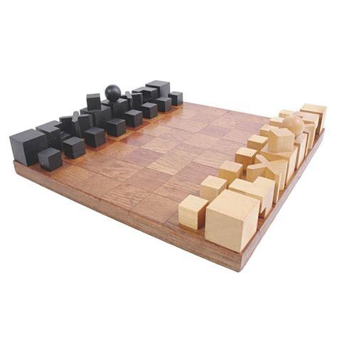 Mid Century Modern Chess Set by Modernist Bauhaus Chess Set Designed By Josef Hartwig At