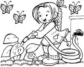 Spring Coloring Sheets Spring Coloring Pages Coloring Ville