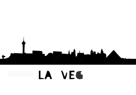 depositphotos skyline las vegas clip art  vector clipartix
