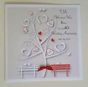 large personalised 40th ruby wedding anniversary card husband ebay